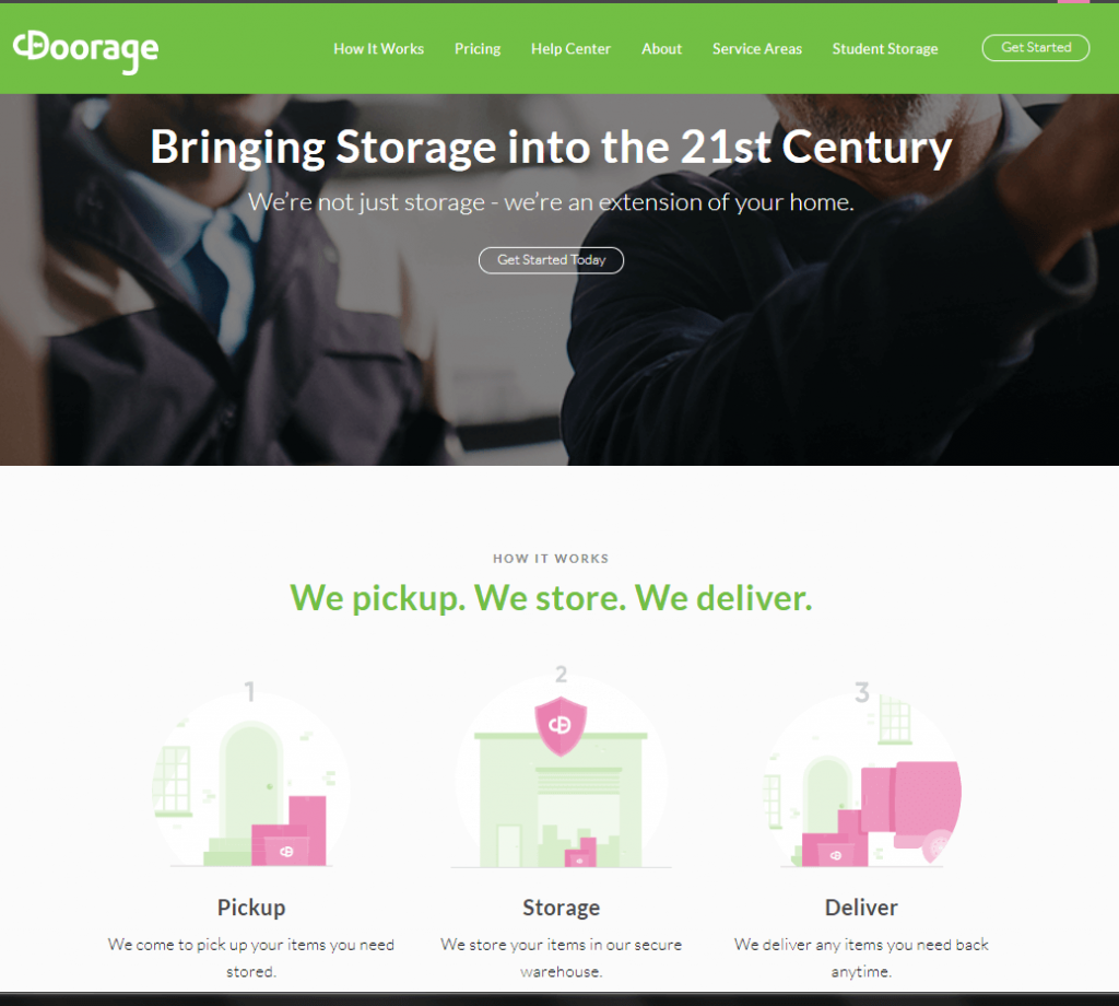 self storage marketing case study homepage design