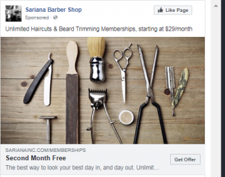 Barber Facebook Lead Ad