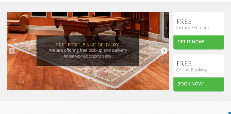 rug cleaning landing page