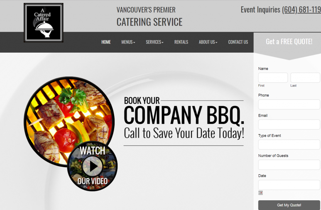catering website bbq