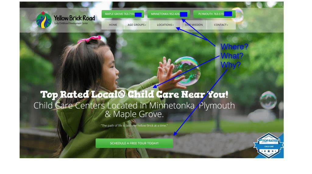 child care case study homepage