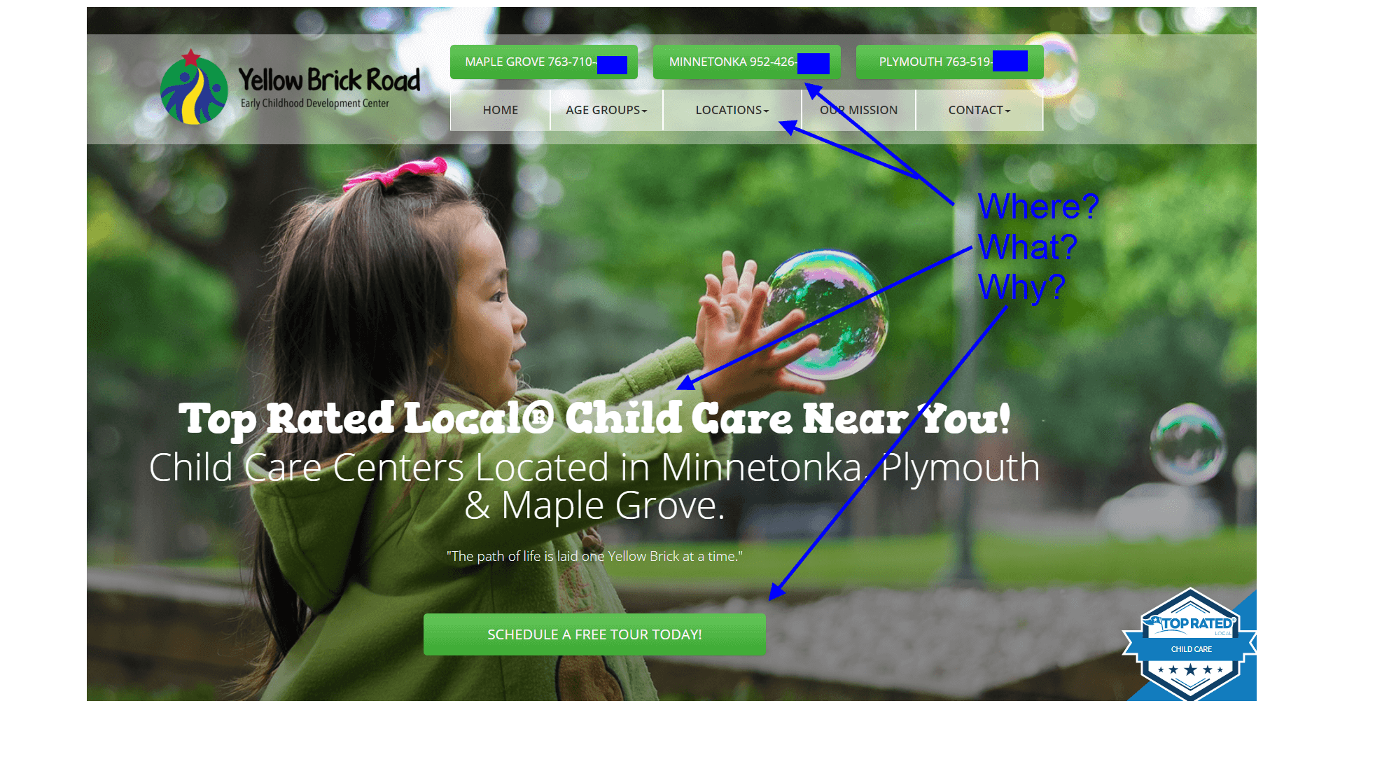 Case Study: Child Care Offers Content with Clarity