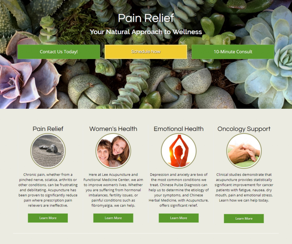acupuncture case study homepage
