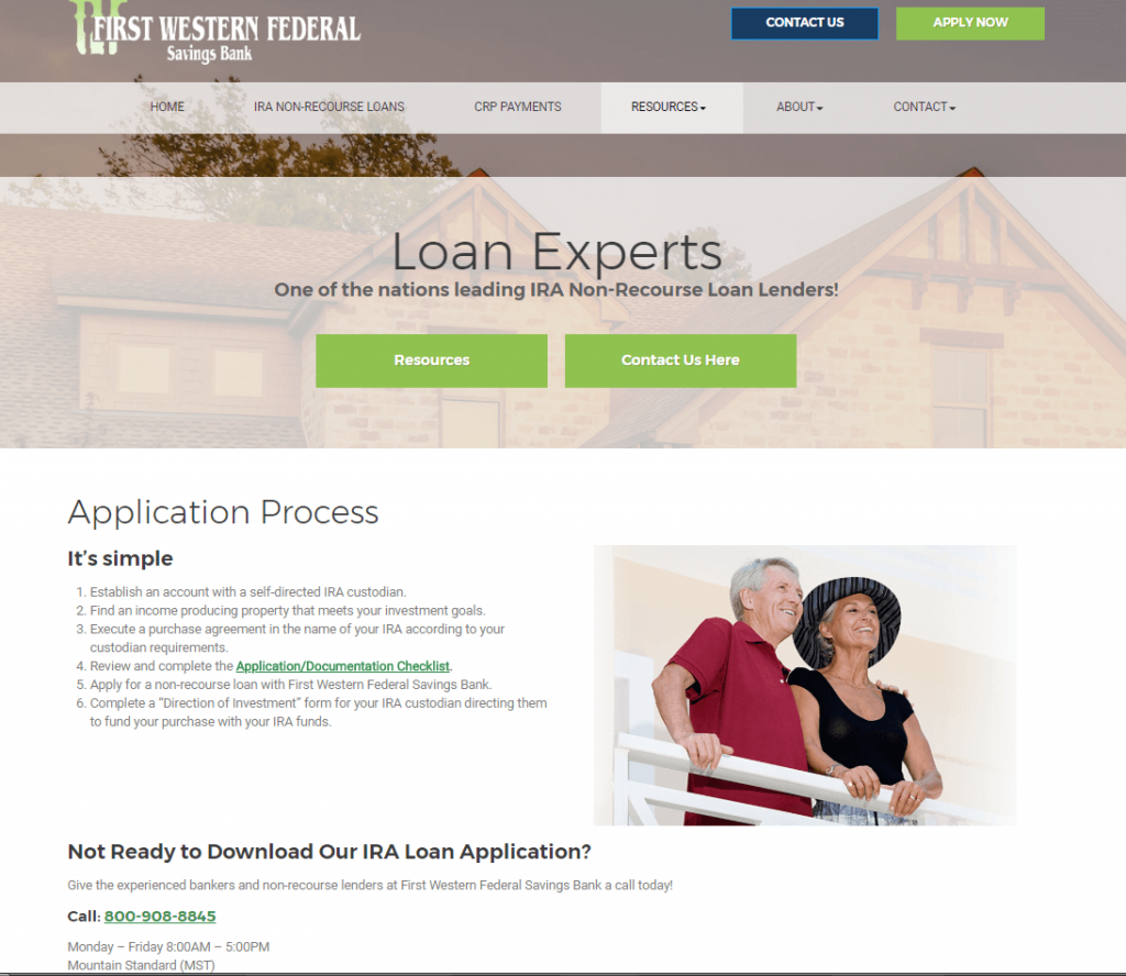 bank case study landing page