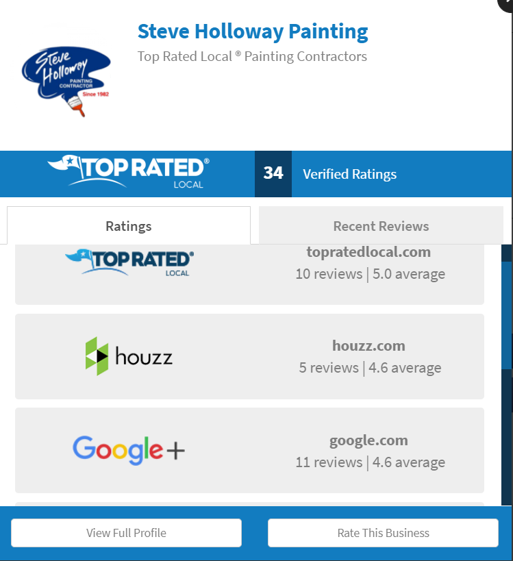 painter top rated local