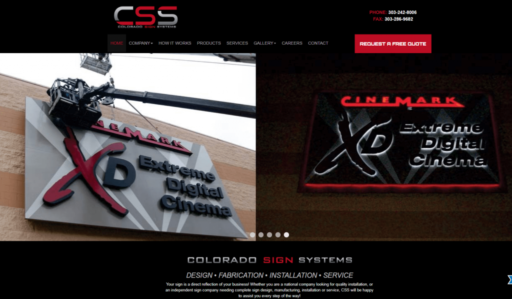 sign company case study website design