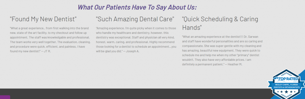 dental case study testimonials