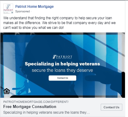mortgage case study facebook lookalike ad