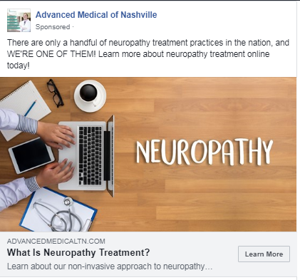 medical marketing case study facebook retargeting ad
