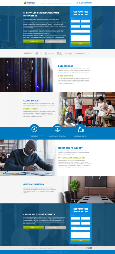 it managed services website design mockup