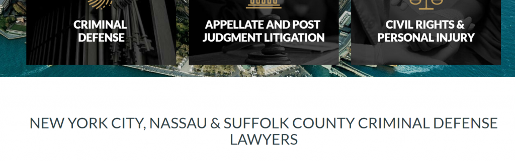 best law firm website location header