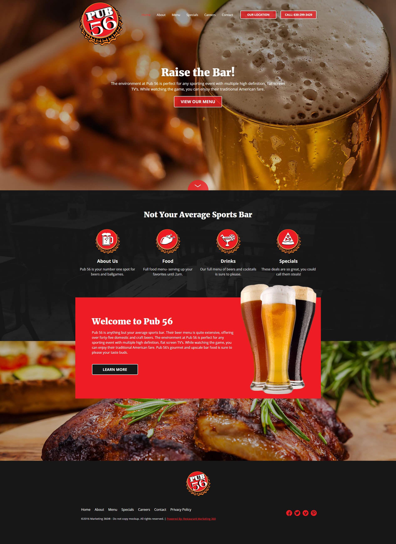 pub website design