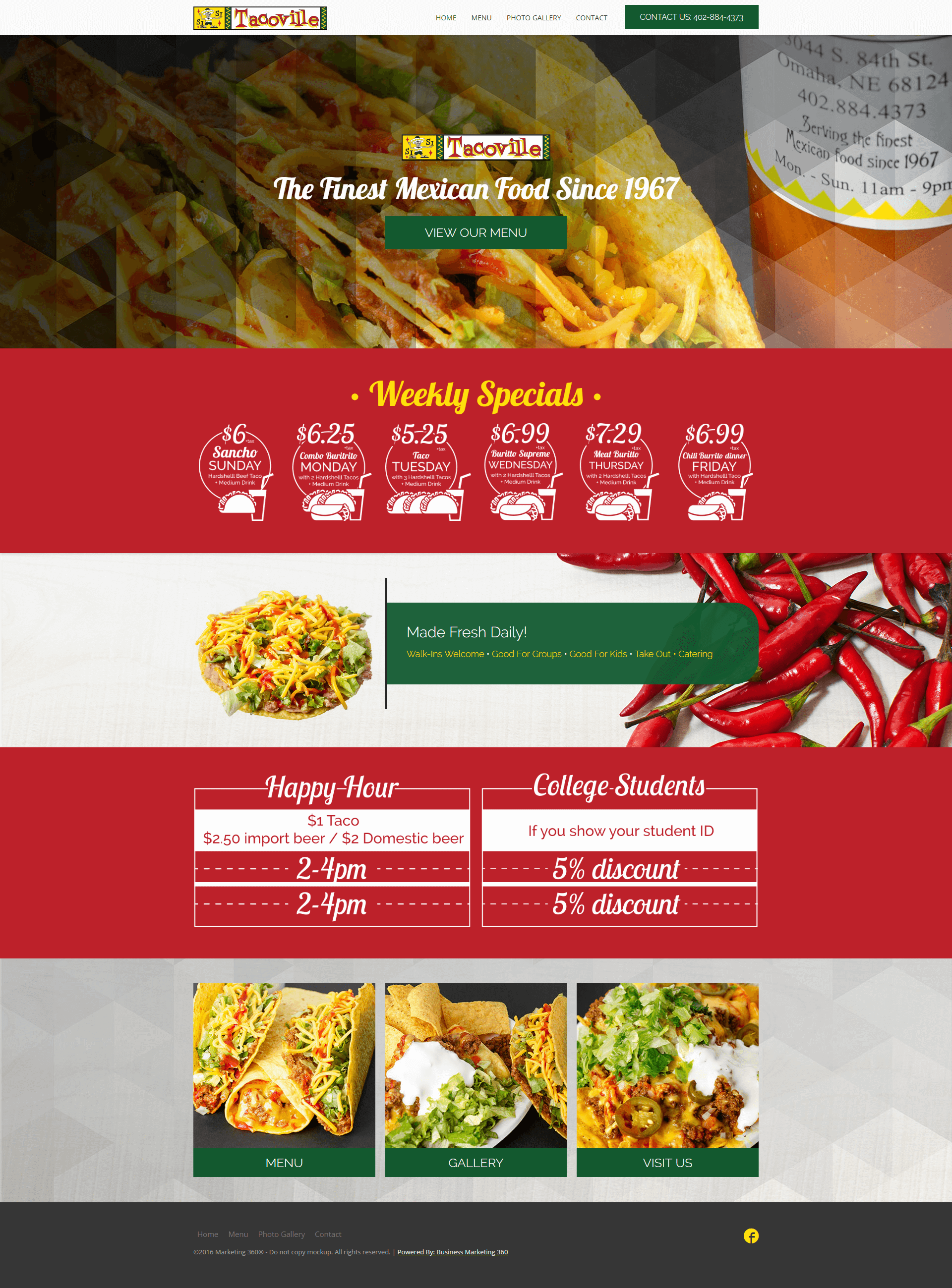 mexican food website design