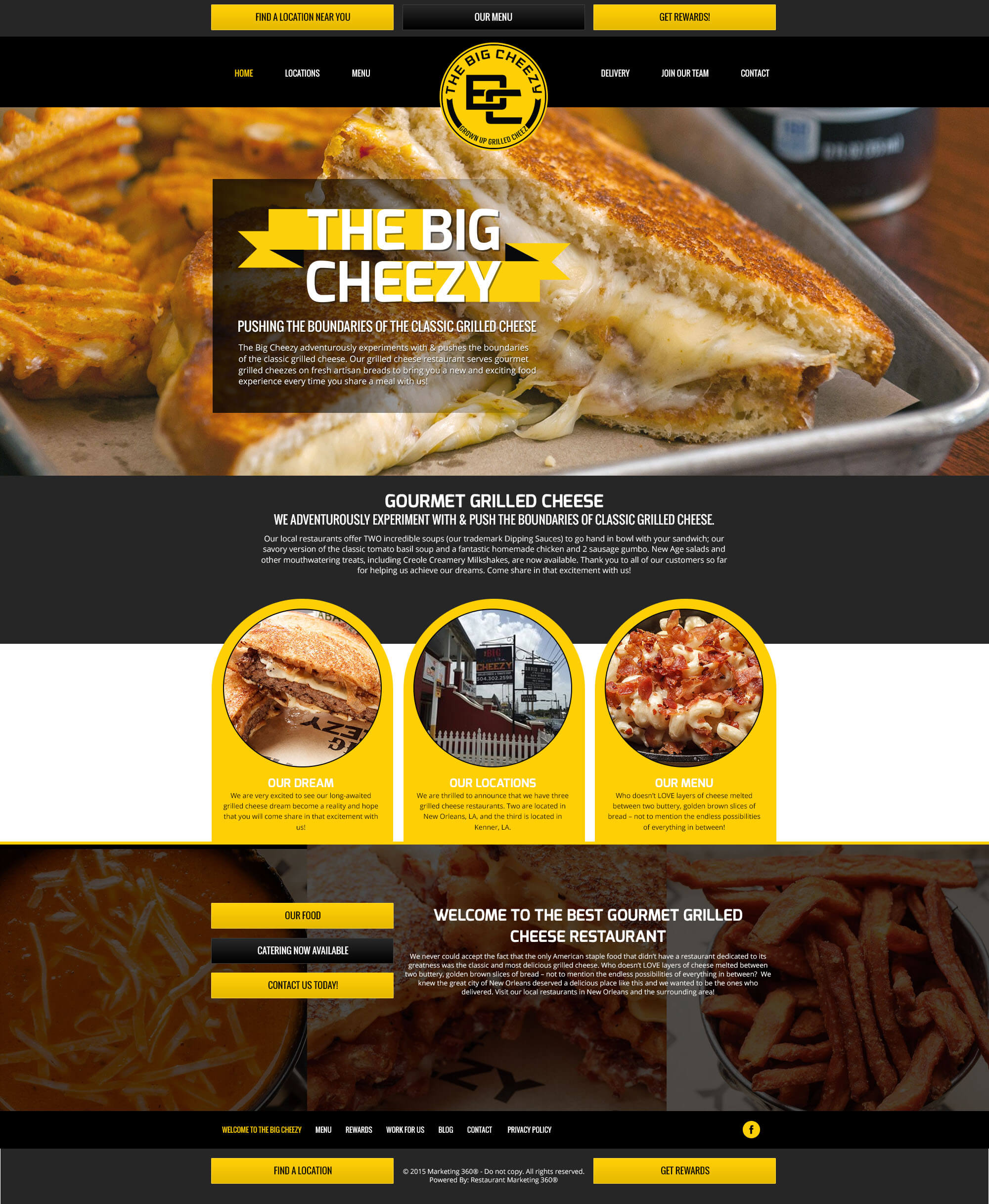 restaurant website design template