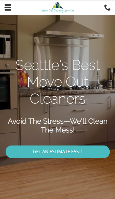 cleaning service marketing case study homepage
