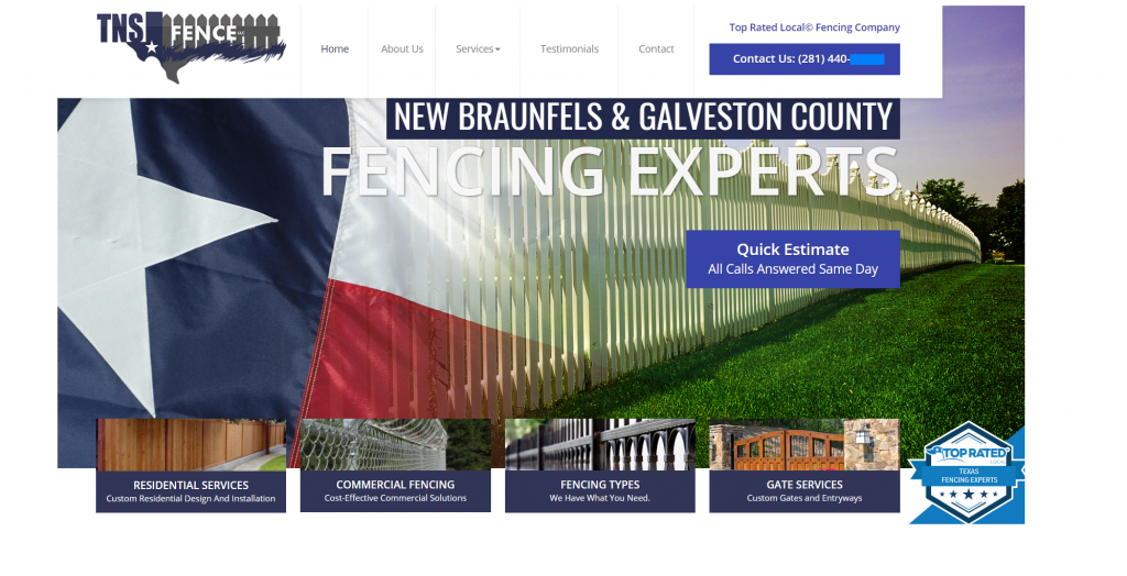 fencing marketing case study website design