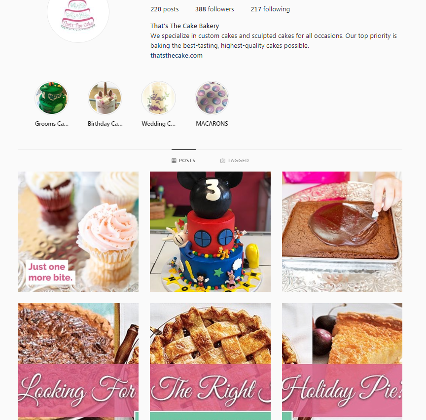 bakery instagram
