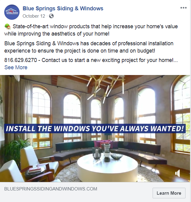 contractor social targeting ad