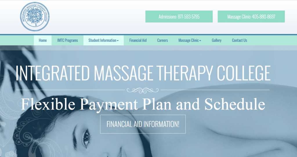 massage therapy homepage design