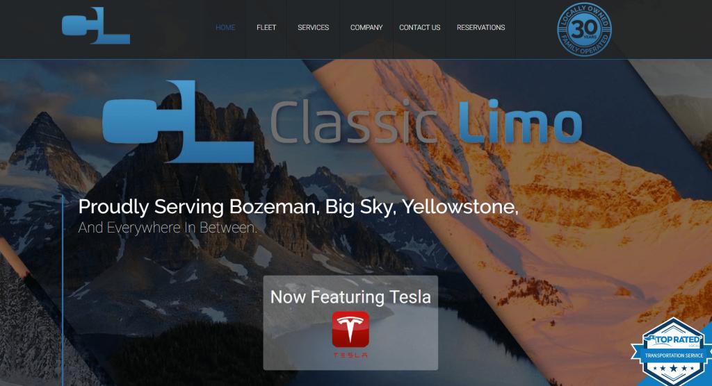 limo marketing website design homepage