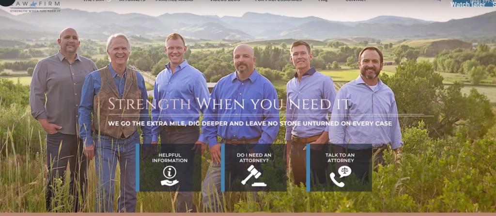 law firm faces website design