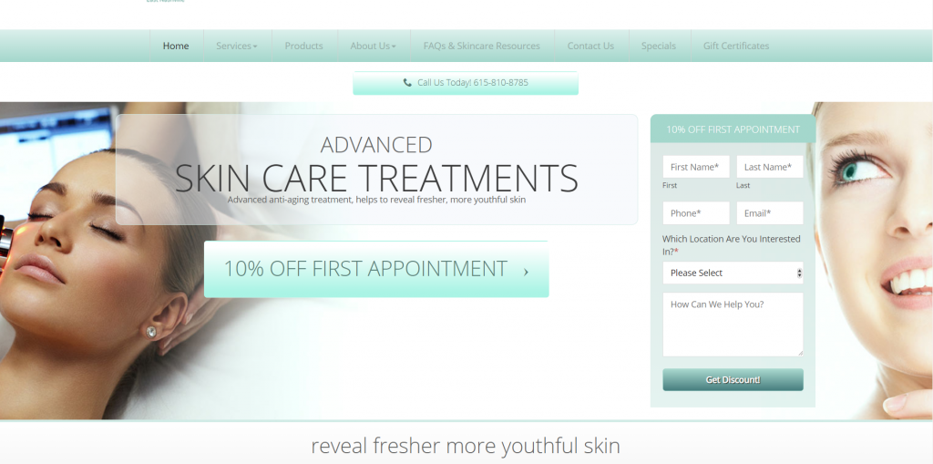 salon marketing case study landing page
