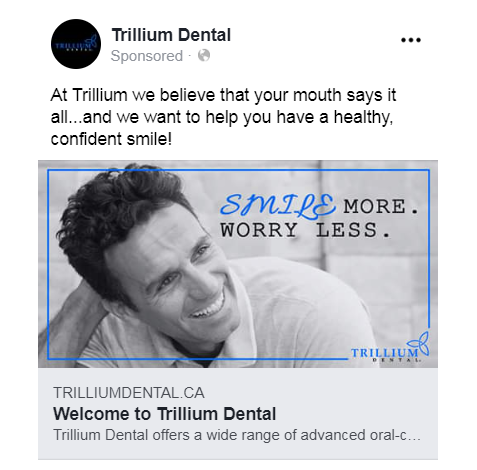 facebook ad for dental practice