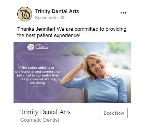 facebook dental ad testimonial
