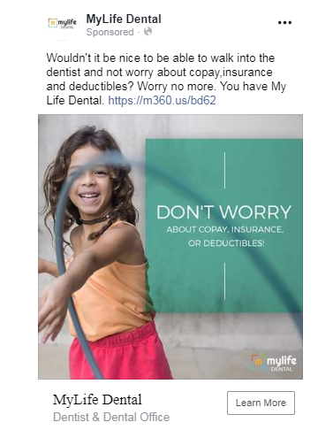 dentist facebook ads