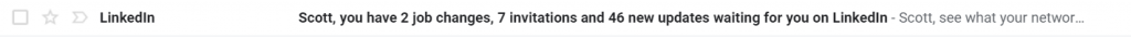 email subject line name