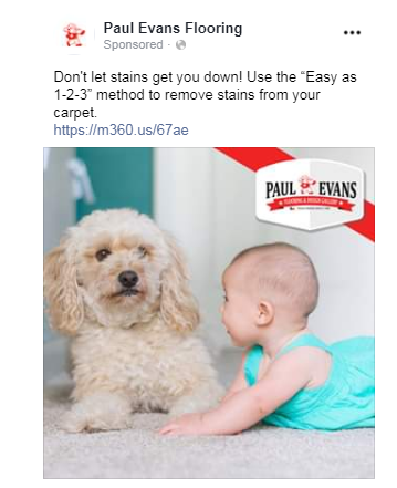 facebook ads for carpet cleaning