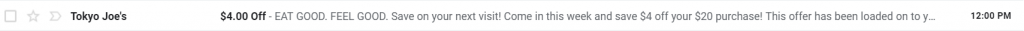 restaurant marketing emailer