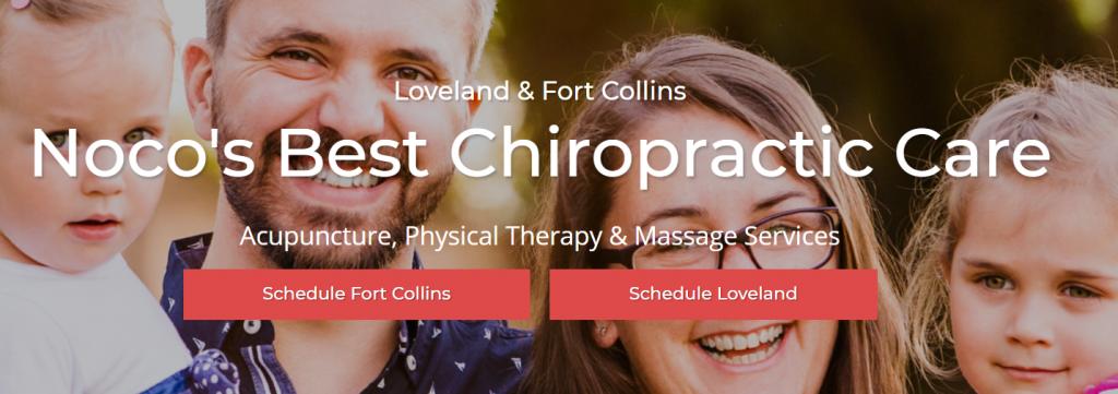 chiropractic website headline